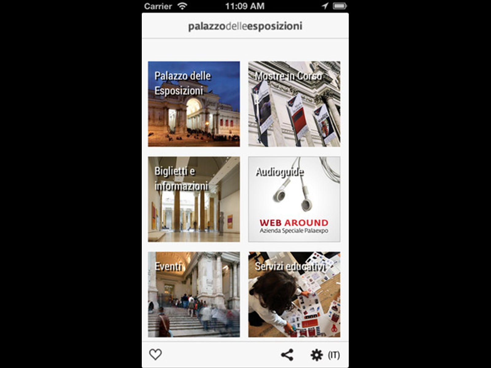 The exhibitions official app